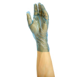 4991 | Glove, Revolution Blue Cast Poly, Textured, PF, Small, 100/Box - 10 Box/Case Glove on Hand