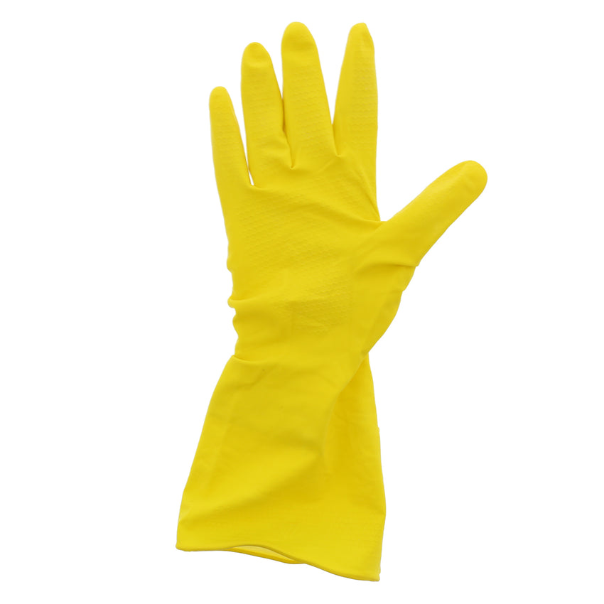 5991 | Glove, Household, Neptune Yellow, Flock Lined, PF, Small, 10 pack/12 pairs Glove Flat