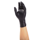 60991 | Glove, Black Rhino, Nitrile, PF, Small, 100/Box - 10 Box/Case Glove on Hand