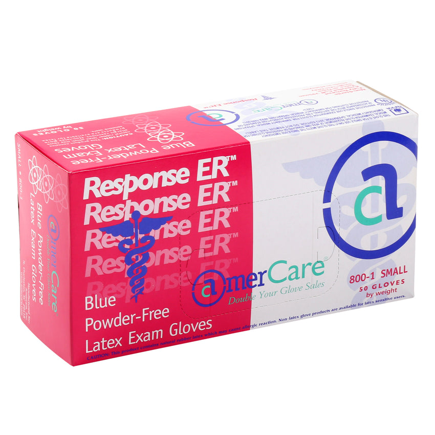 8001 | Glove, Exam Grade, Response ER Latex, PF, Small, 50/Box - 10 Box/Case Inner Standing