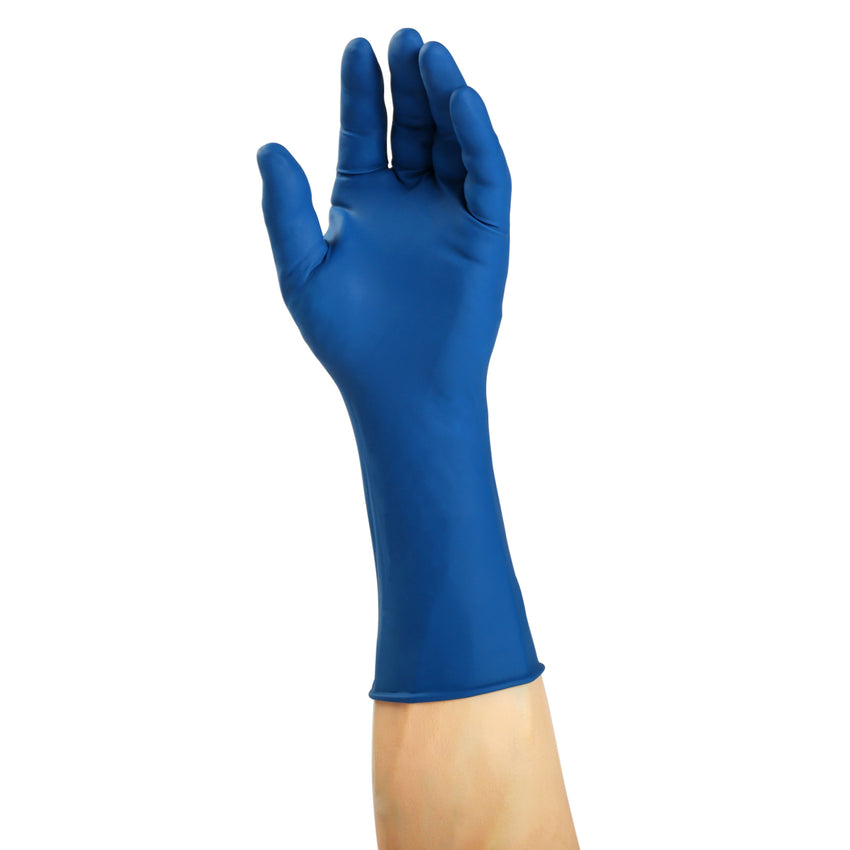 8001 | Glove, Exam Grade, Response ER Latex, PF, Small, 50/Box - 10 Box/Case Glove on Hand