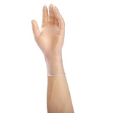 8991 | Paradigm Vinyl Gloves, Powder-Free, Small, 10/100 Glove on Hand