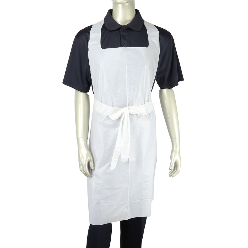 "28"" x 46"" 1.77 Mil Poly Apron with Ties"