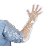 "35"" Shoulder Length Poly Glove on arm"