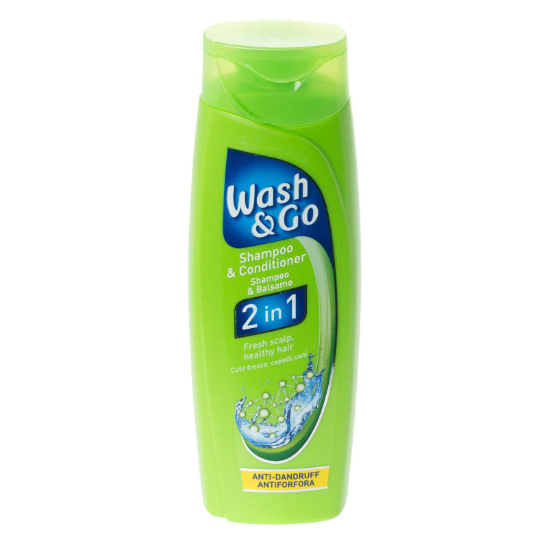 WASH&GO - champô 2 em 1 anti-caspa 200ml