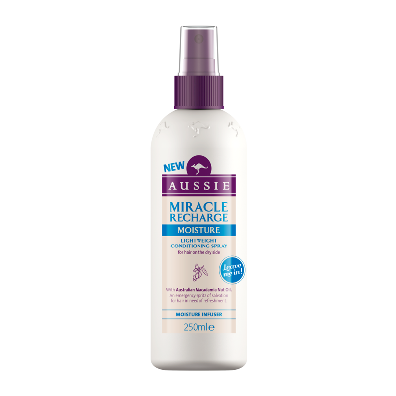 AUSSIE - condicionador Spray Miracle Recharge Moisture 250ml