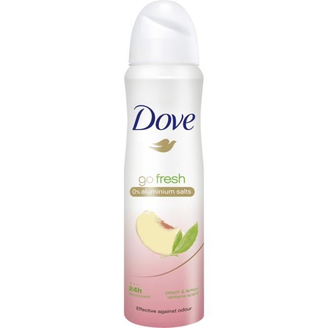DOVE - desodorizante spray Go Fresh pêssego e limão 150ml