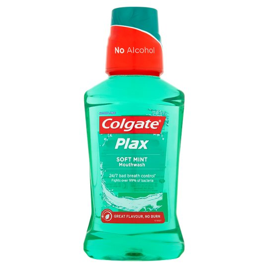 COLGATE PLAX - Elixir Bucal Soft Mint (mentol suave) 250ml