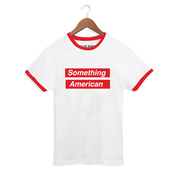 JADE BIRD 'SOMETHING AMERICAN' WHITE/RED RINGER TEE