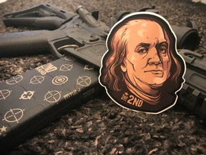 Ben frank sticker 2 pack