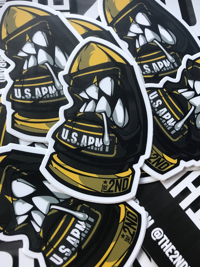 U.S. ARMY round sticker