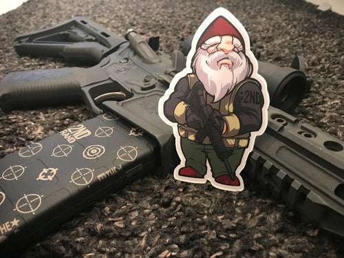 2nd brand GEO gnome sticker 2 Pack