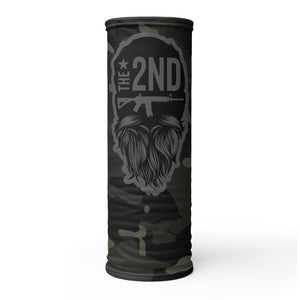 Black multi 2nd patriot Neck Gaiter (face shields ship separate from other orders)