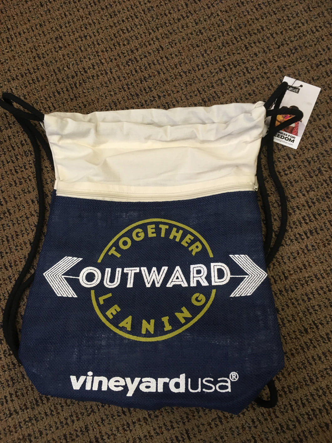 Vineyard USA Drawstring Bag – Together Leaning Outward