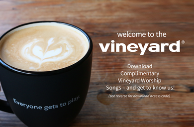 Welcome To The Vineyard Drop Card