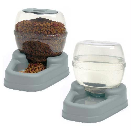 Bergan Petite Gourmet Combo Pack Pet Feeder And Waterer Blue 13