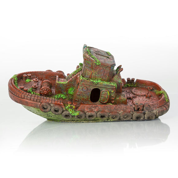 Biobubble Decorative Sunken Tugboat 12.5