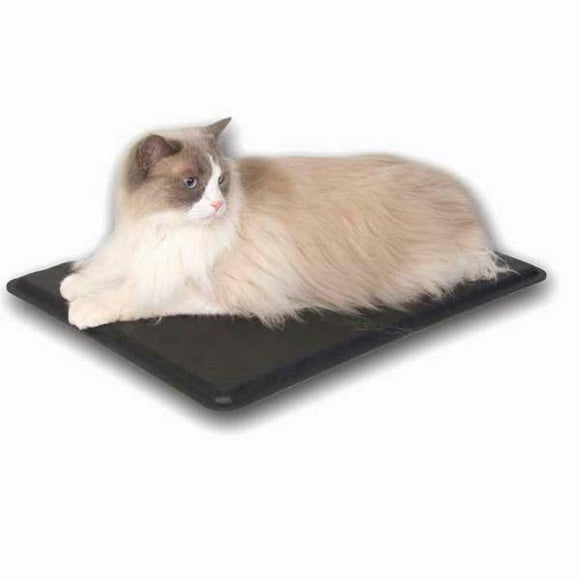 Outdoor Heated Kitty Pad Black 12.5