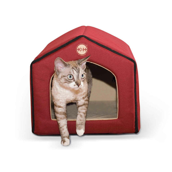 K&h Pet Products Unheated Indoor Pet House Red - Tan 16