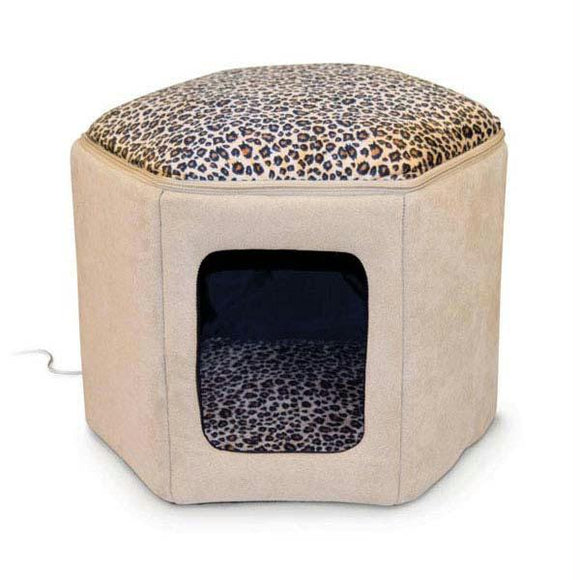 Thermo-kitty Sleephouse Tan - Leopard 17