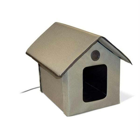 K&h Pet Products Outdoor Heated Kitty House Olive 22