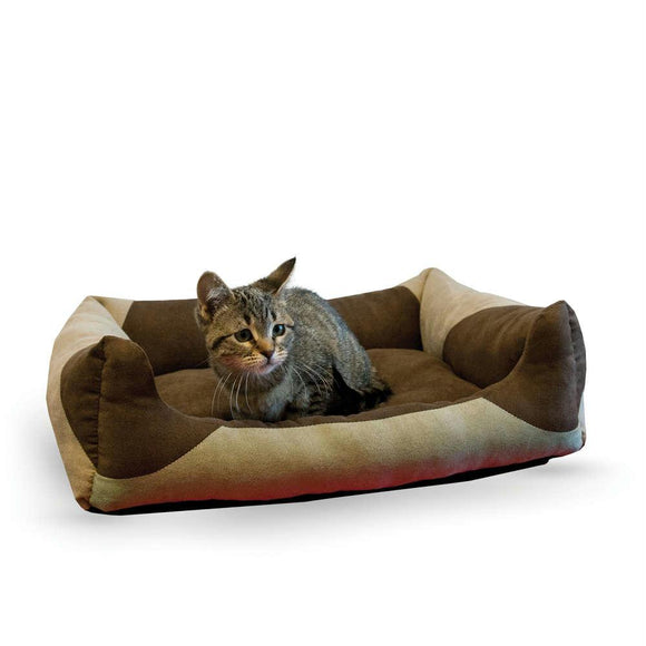 Pet Products Classy Lounger Pet Bed Medium Tan - Chocolate 20