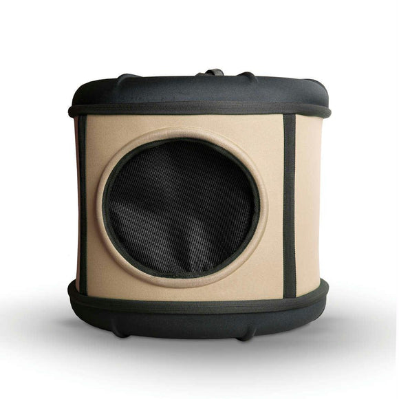 Mod Capsule Cat Bed Tan - Black 17