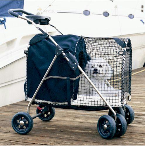 "Kittywalk 5th Ave Luxury Pet Stroller Suv Blue 31"" X 16"" X 37.5"
