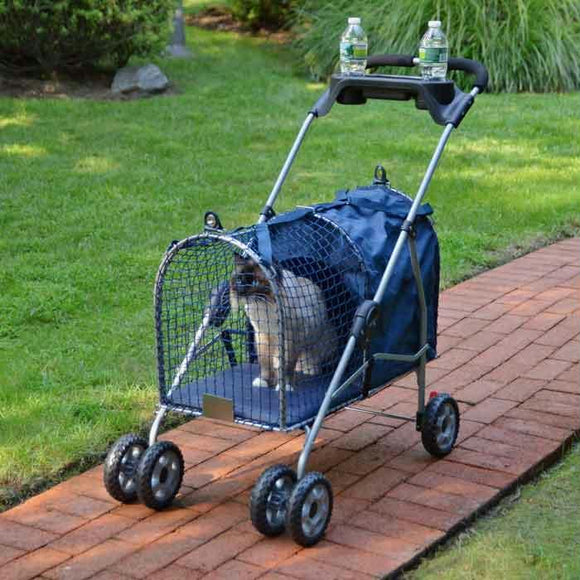 "Kittywalk 5th Ave Luxury Pet Stroller Blue 26"" X 14"" X 35.5"