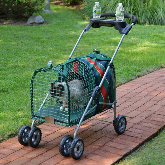 "Kittywalk Original Stripe Pet Stroller Striped 26"" X 14"" X 35.5"