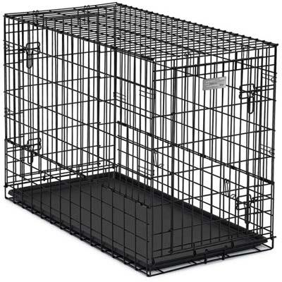 Midwest Solutions Series Side-by-side Double Door Suv Dog Crates Black 54