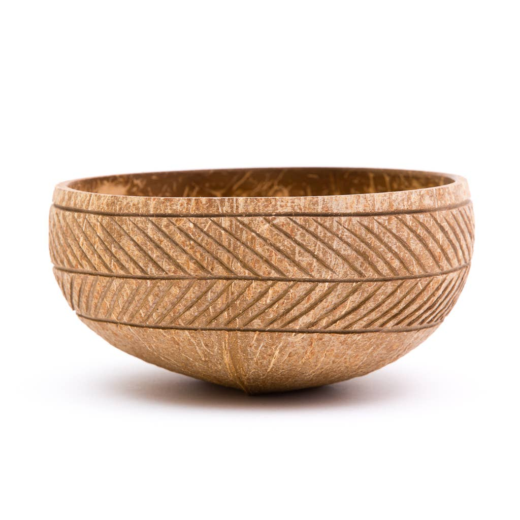 Rainforest Bowls - Feather Coconut Bowl