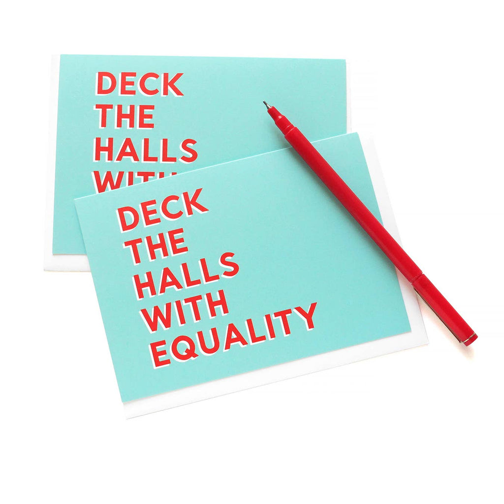 WORD FOR WORD Factory - FEMINIST HOLIDAY CARD - Deck the Halls With Equality Xmas