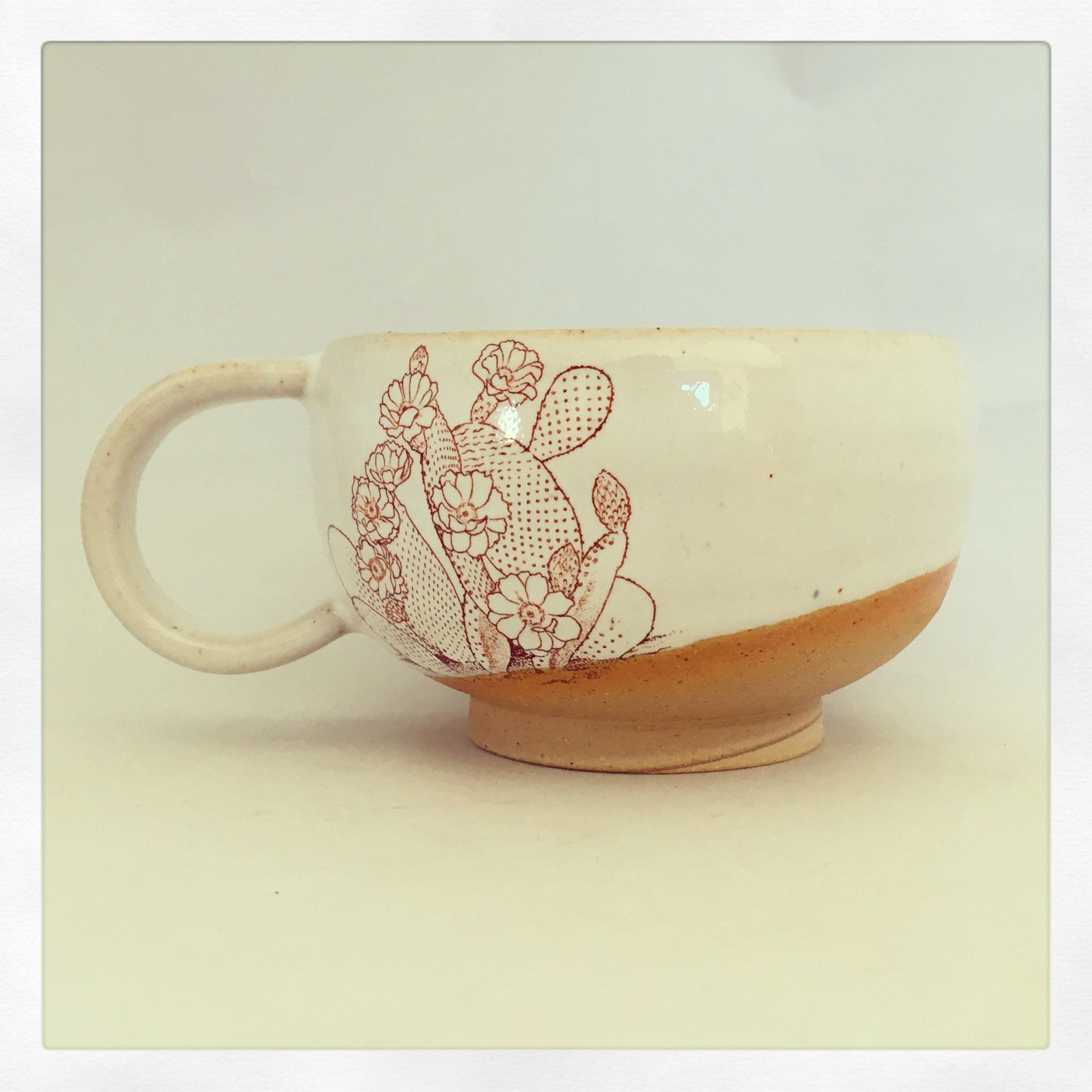 Crazy Cat Lady Ceramics - Shorty Cactus Latte Mug