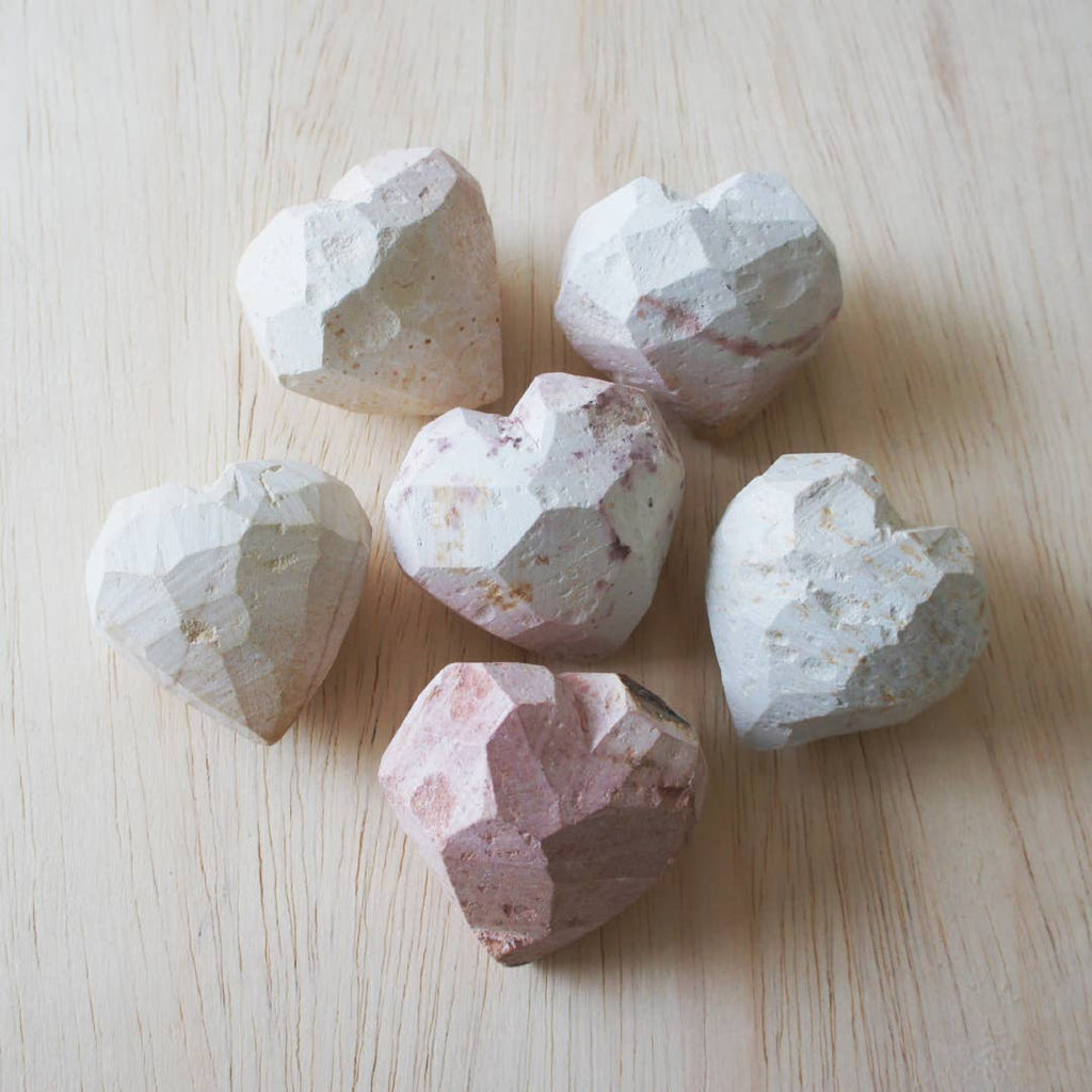 Soapstone Work in Progress Hearts