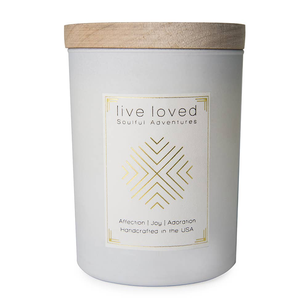 Ethics Supply Co. - SOULFUL ADVENTURES Live Loved Candle Wood Lid | 11 OZ