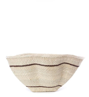 Batonga Handwoven Addmo Basket with Black Stripes