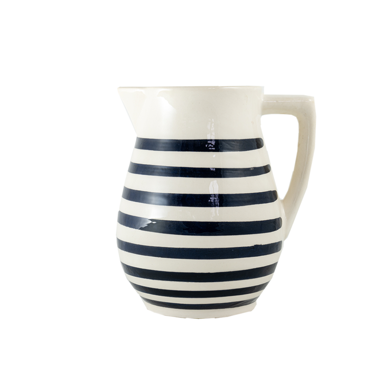CERAMIC STRIPE PITCHER