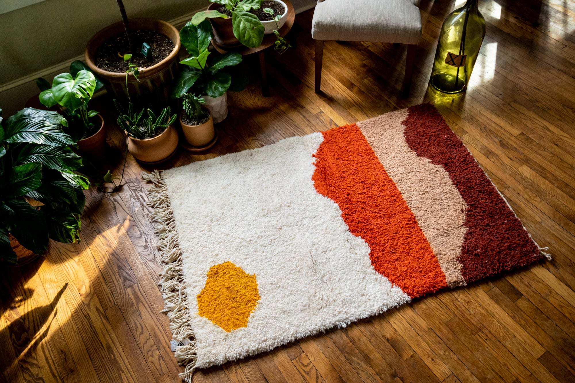 Moroccan Pile Knot Rug: Sunset