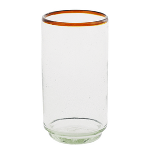 Amber Rim Stacking Glass