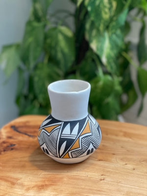 Hand Painted Vase by Native Potter Pauline Abeita