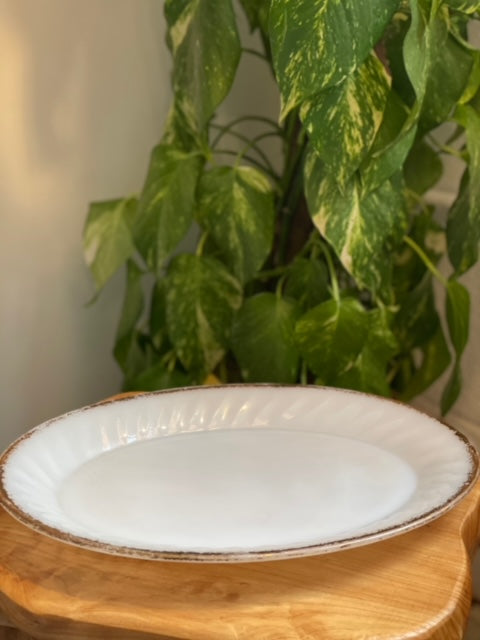 Milk Glass Dishware Serving Platter