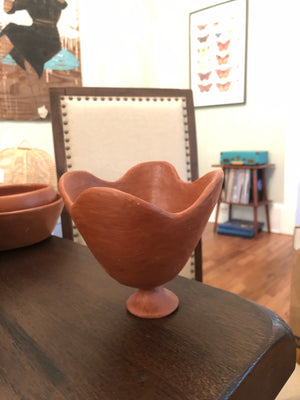 Flower Stem Bowl made by hand in Oaxaca Mexico