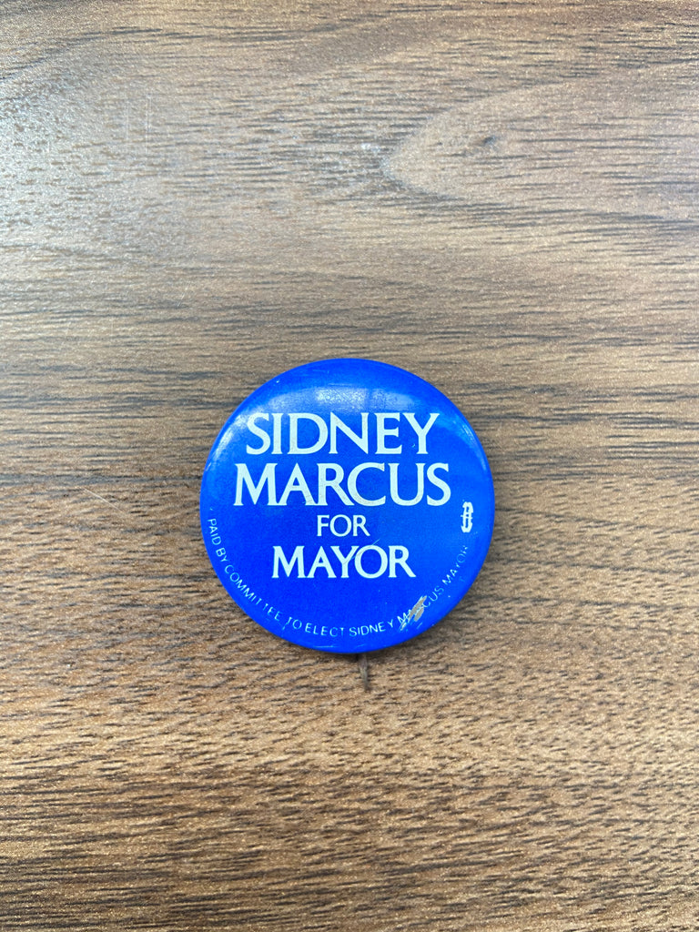 Sidney Marcus For Mayor Vintage Pin