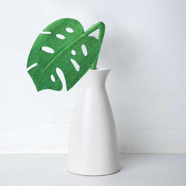 Felt Monstera Leaf