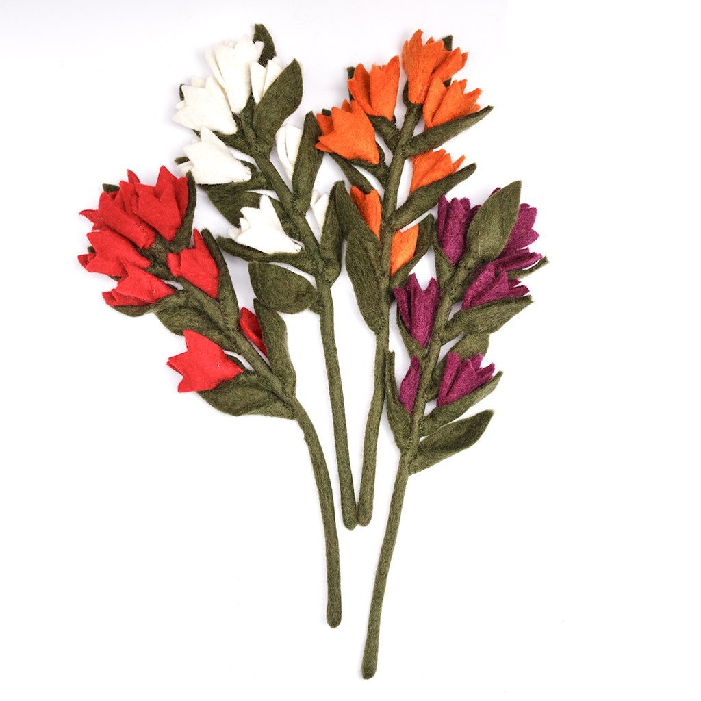 Felt Indian Paint Brush Flowers