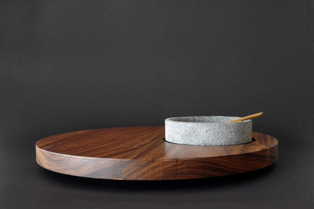 Tulum Wood Lazy Susan