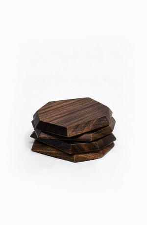 Tulum Wood Coasters - Set of 4