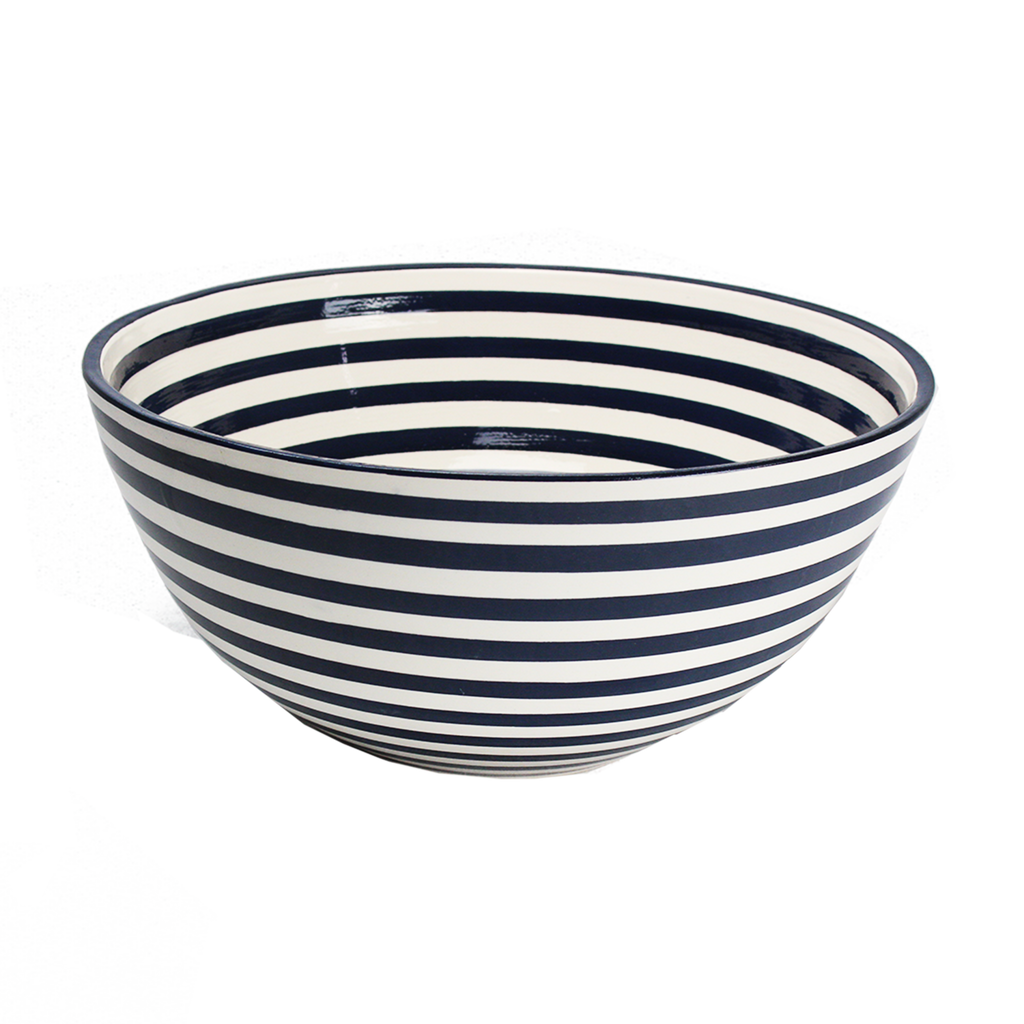 Striped Earthenware Bowl