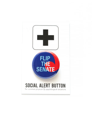 WORD FOR WORD Factory - FLIP THE SENATE pinback button